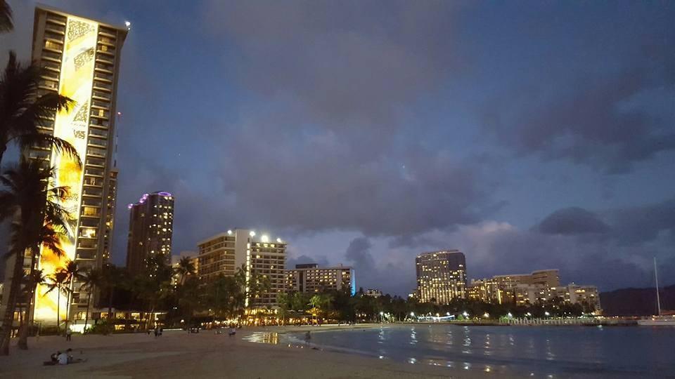 Aloha Friday Photo: Night at Waikiki Beach