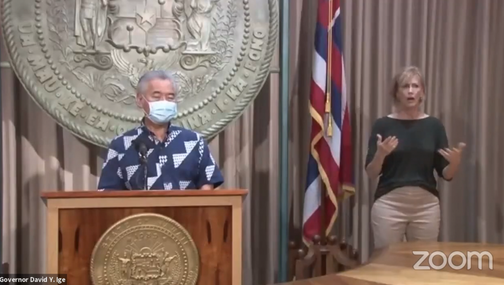 Governor asks visitors to reduce travel to Hawaii through October 2021